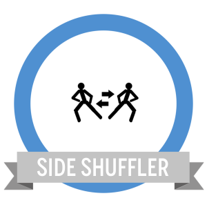 Side Shuffle Fit Challenge Badge - Workout Anywhere