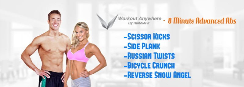 8 Minute Advanced Abs - Workout Anywhere