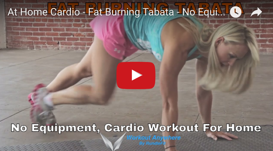 At Home Cardio - Fat Burning Tabata - No Equipment