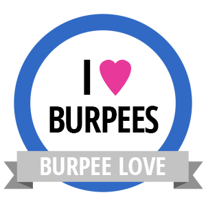 Burpee Love Fitness Challenge Badge