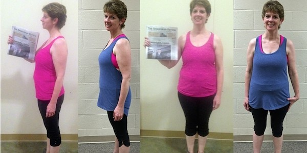Carolyn's Before And After With Workout Anywhere