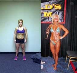 Erica Before and After Workout Anywhere