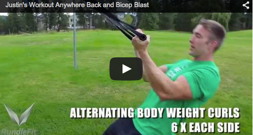 Justin Rundle's Back and Bicep workout
