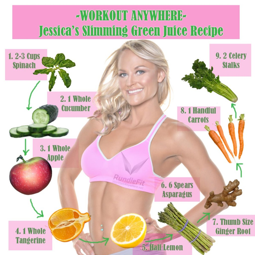 Jessica's Slimming Green Juice Recipe