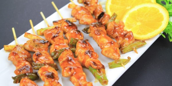 Sweet and Spicy Chicken or Turkey Skewers