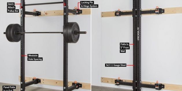 Collapsible rogue rack workout anywhere