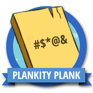 Core Plank Fit Challenge Badge - Workout Anywhere