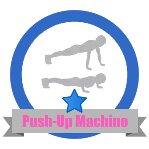 Push-Up Fit Challenge Badge - Workout Anywhere