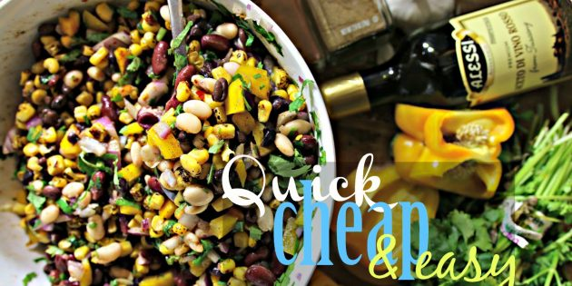 Southwestern Black Bean & Grilled Corn Salad