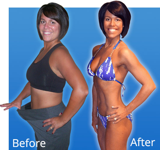 Amber Before and After - Workout Anywhere