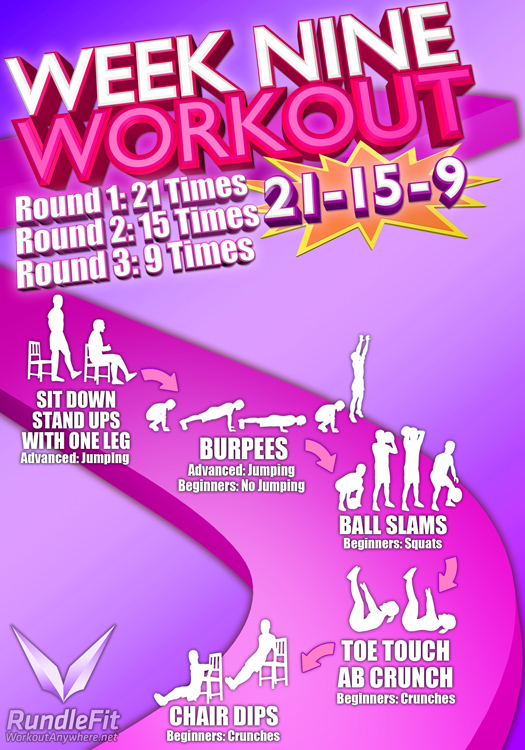 Week 9 Workout Infographic