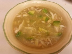 Turkey, Bean & Avocado Soup