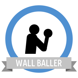 Wall Ball Shots Fit Badge - Workout Anywhere