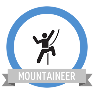 Mountain Climber Fit Challenge Badge - Workout Anywhere