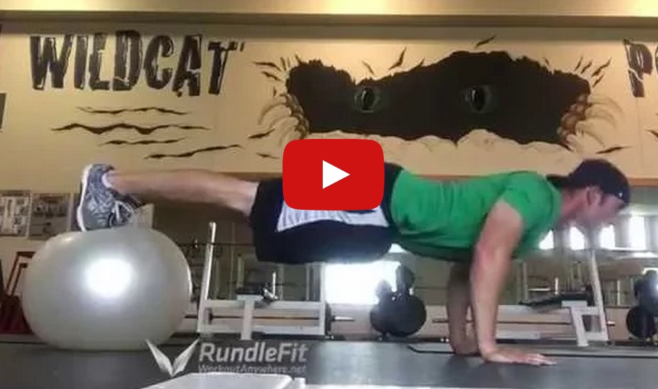 Advanced Stability Ball Push Ups