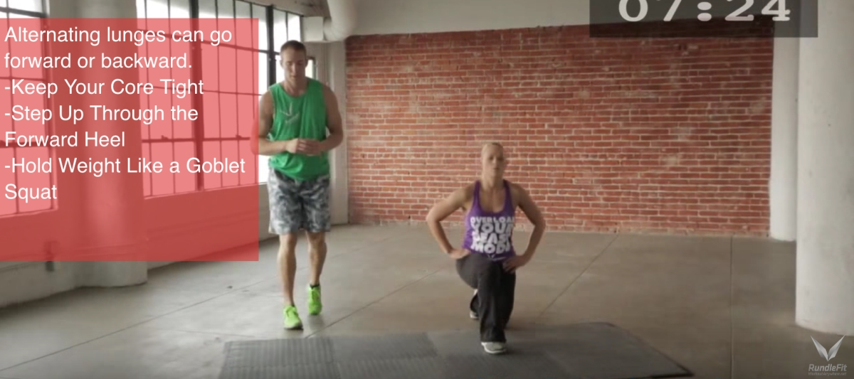 Alternating Lunges - Workout Anywhere