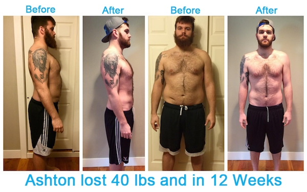 Ashton Before and After Success Story With Workout Anywhere