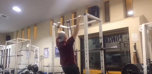 Band Assisted Pull Ups Exercise