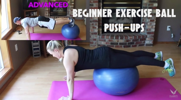 Beginner Stability Ball Push Up - Workout Anywhere