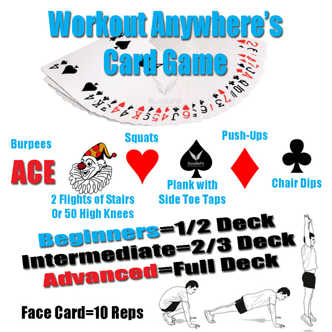 Workout Games: Weekly Home Workout: The Card Game