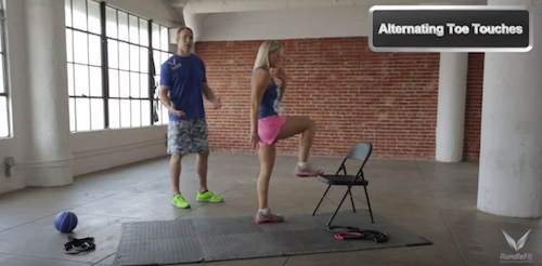 Chair Toe Taps Exercise