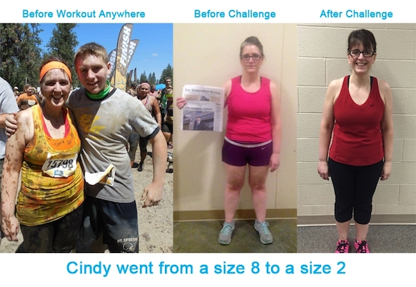 Cindy's Before and After With Workout Anywhere