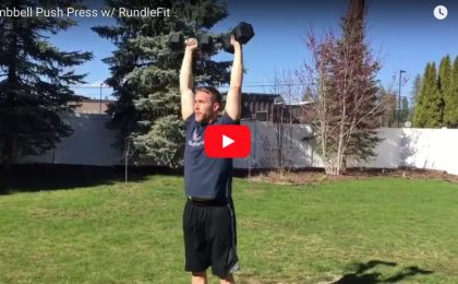 Dumbbell Push Press - Fire Fit w: RundleFit