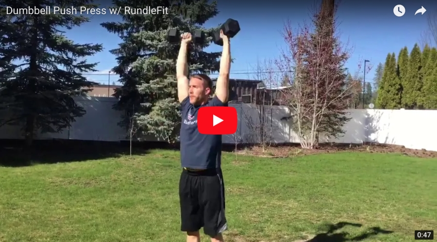 Dumbbell Push Press – Fire Fit w/ RundleFit