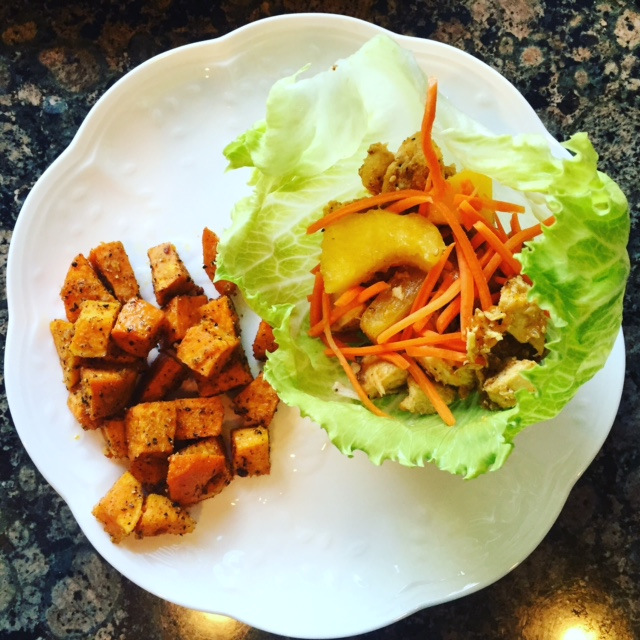Hawaiian Chicken Lettuce Wraps