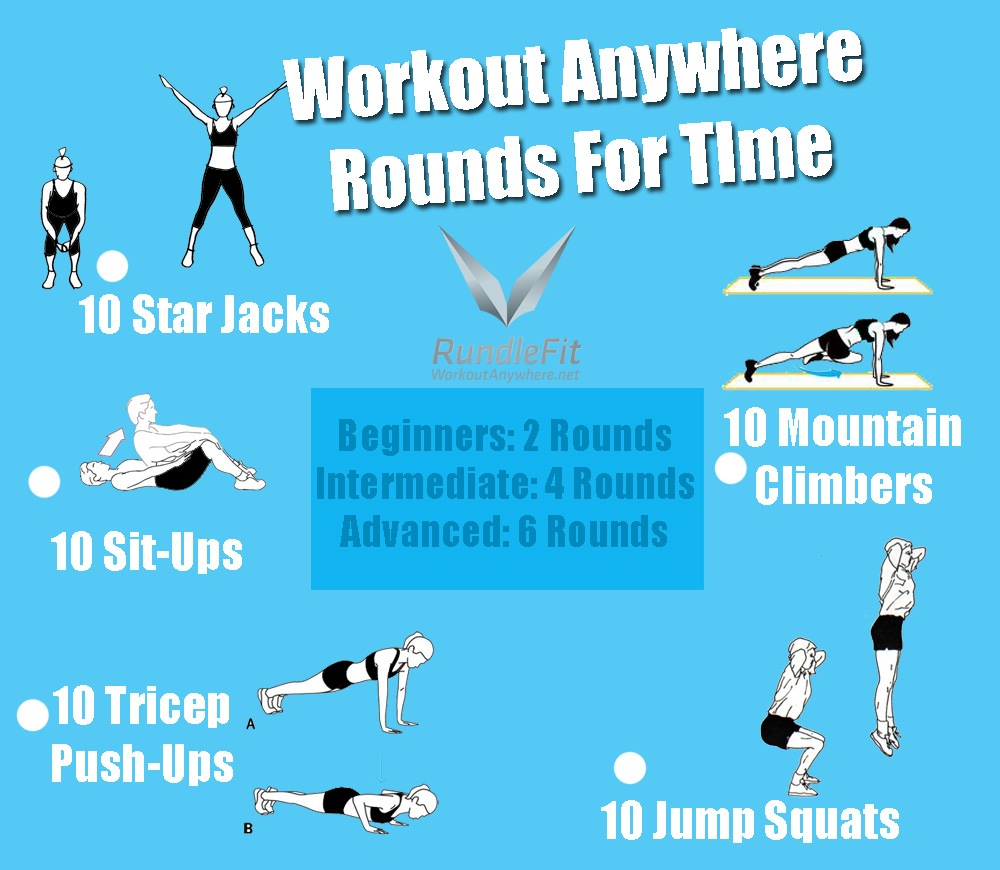 Body Weight Workout - Rounds For Time