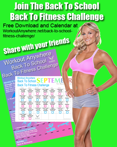 Workout Anywhere Back to School Fitness Challenge