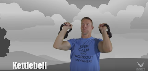 Kettlebell Military Press Exercise