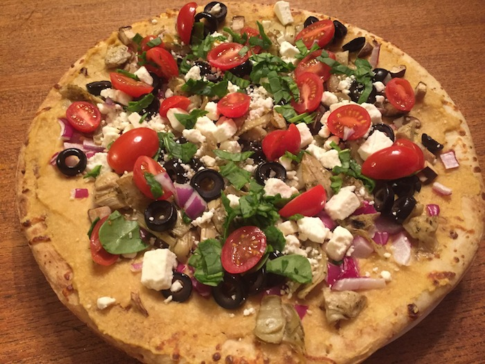Mediterranean Vegan Pizza