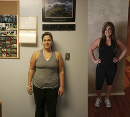 Melissa Before and After - Workout Anywhere