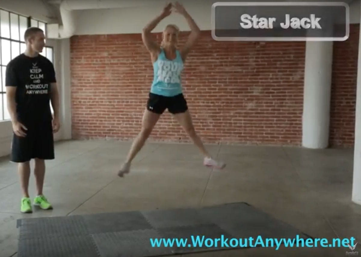 Star Jack Exercise - Workout Anywhere