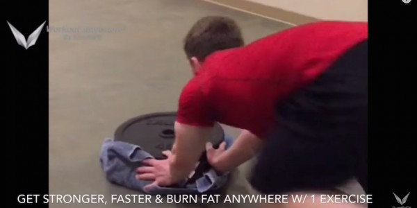 Plate Pushes - Fat Burning Exercise