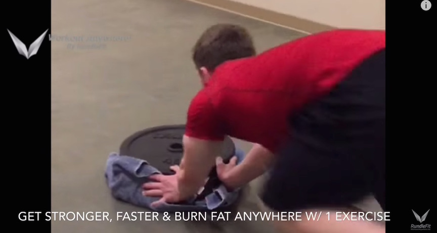 Plate Pushes | The Best Fat Burning Exercise