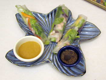 Shrimp and veggie rice paper wraps
