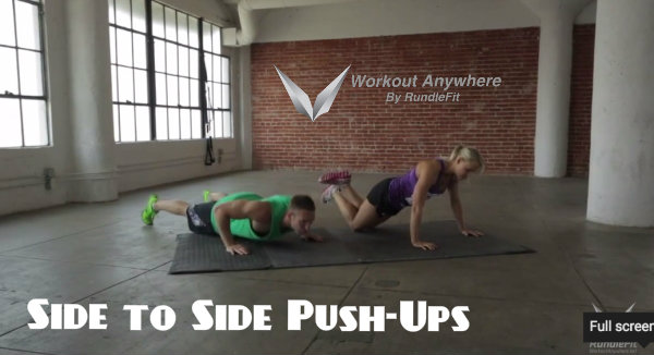 Side to Side Push Ups - Workout Anywhere Anytime