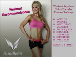 Free Fat Burning Home Workout: The Thirty Thursday Fitness Challenge