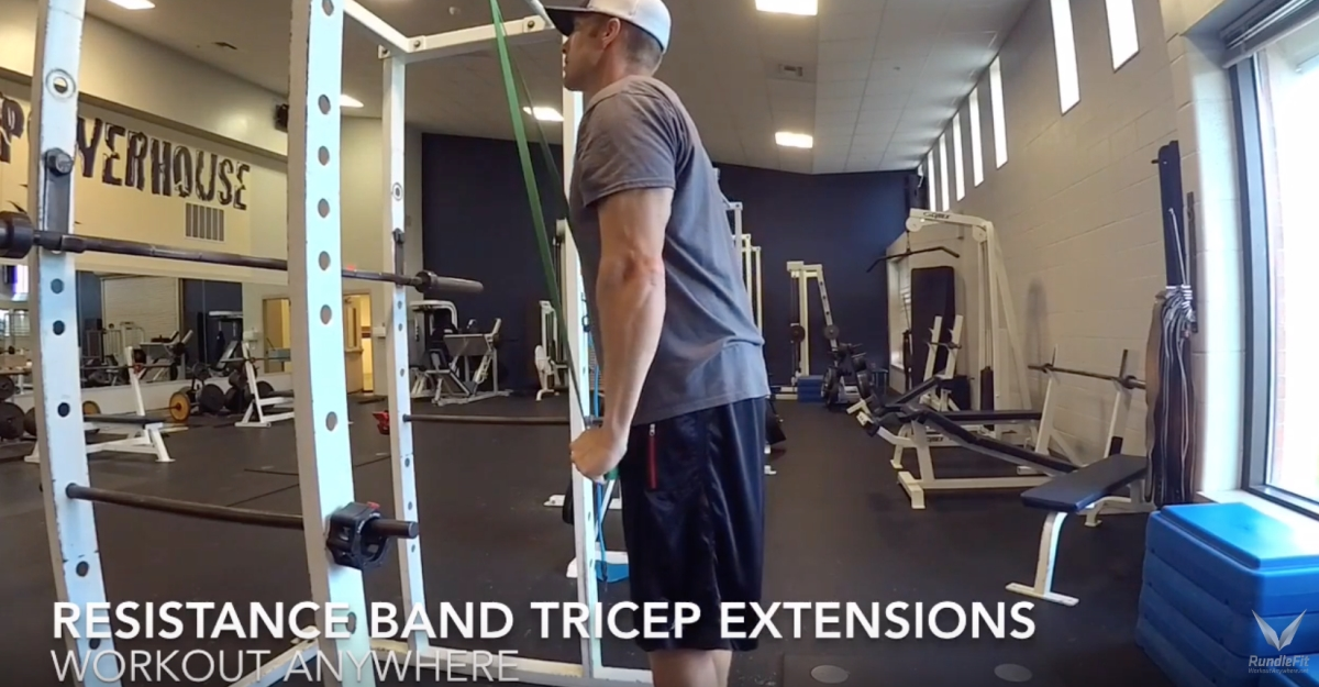 Super Band Tricep Extensions – Workout Anywhere