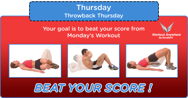 Workout Anywhere of The Day – Throwback Thursday