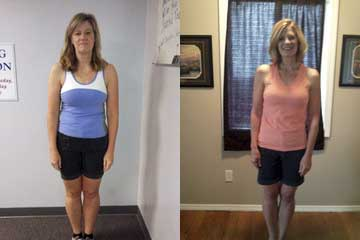 Val Before and After - Workout Anywhere