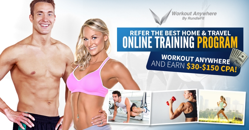Earn $30-150 CPA With The Hottest Fitness Affiliate Program Online