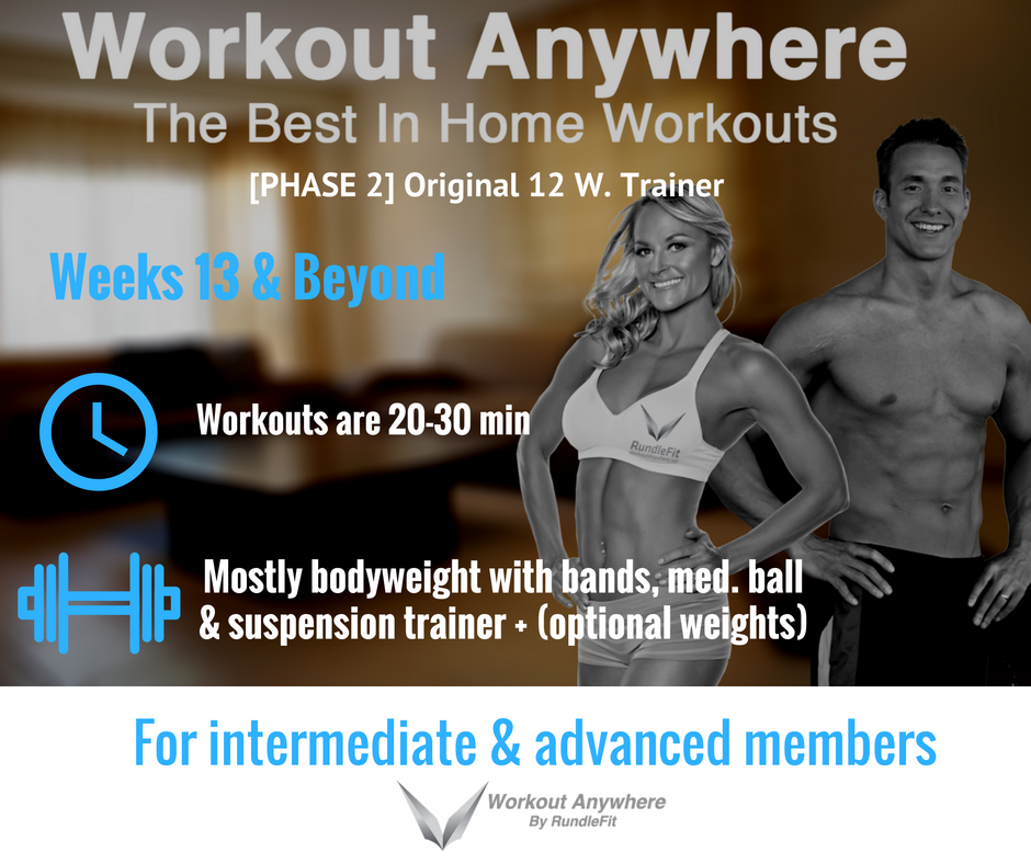 12-Week Orginal Workout Anywhere Training Plan