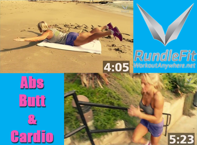 abs, glute and cardio workout
