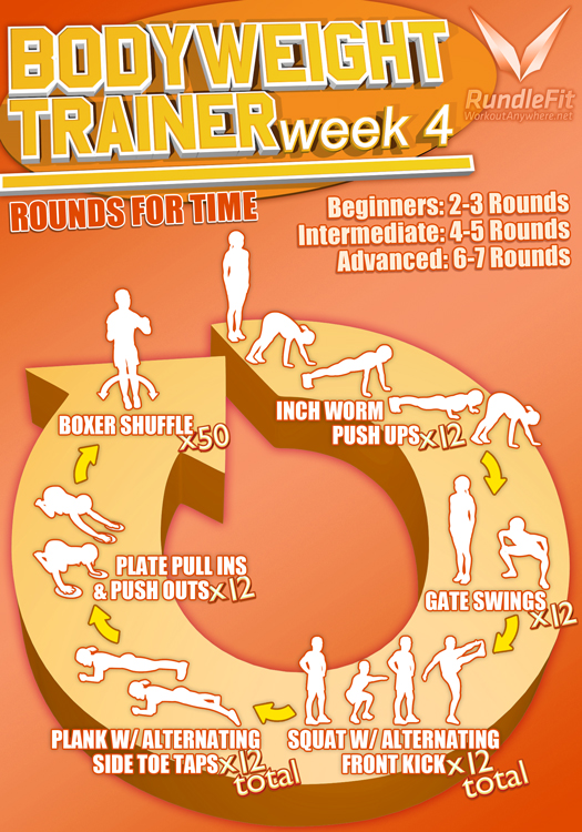 Body Weight Trainer Week 4 Infographic