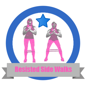 Side Walk Fit Challenge Badge - Workout Anywhere