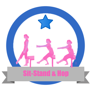 Sit Stand And Hop Fit Challenge Badge - Workout Anywhere