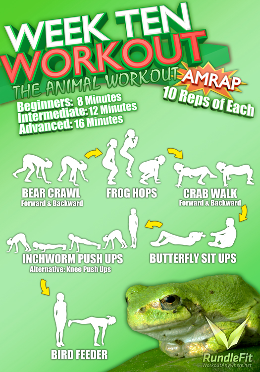 Week 10 Workout Infographic